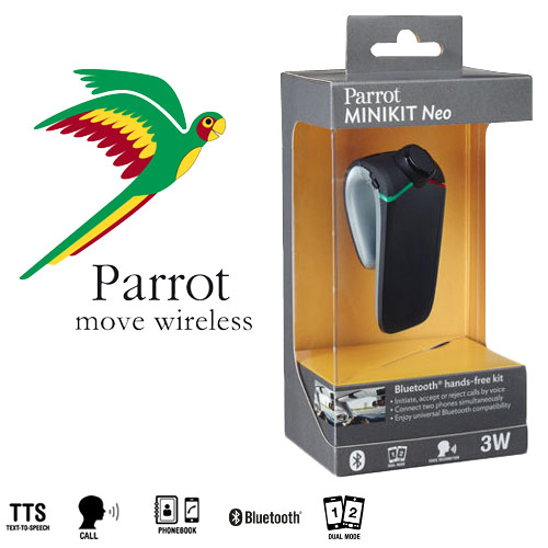 new parrot minikit neo in car bluetooth handsfree visor. Black Bedroom Furniture Sets. Home Design Ideas